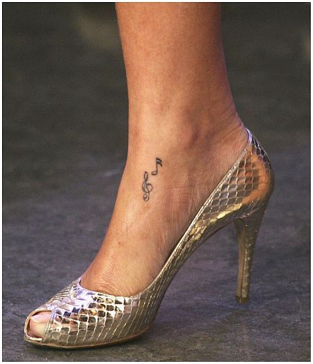 Rihanna's Foot Tattoo