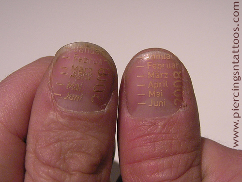 Not Tattooing but Laser Fingernail Etching