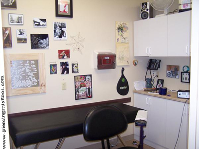 Artnbody tattoo studio interior for hygienic body art